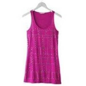 Candies Britney Spears Studded Tank Top Tunic- L